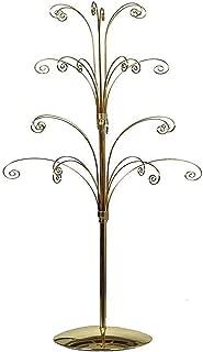 HOHIYA Ornament Tree Display Stand Metal Christmas Dog Cat Glass Ball Bauble 36inch(Gold)