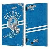 Head Case Designs Licenciado Oficialmente NFL Casco Distressed Look 100th Detroit Lions Logo Art Car...