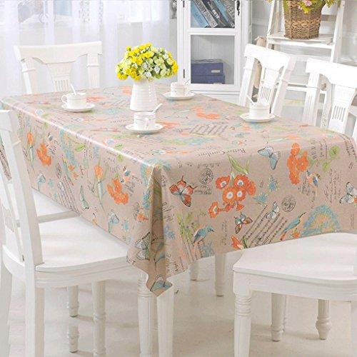 Lying Nappe composite en PVC imperméable à l'eau imperméable à l'huile Rectangle table chiffon table chiffon - Décoration de table (Couleur : C, taille : 138 * 190cm)
