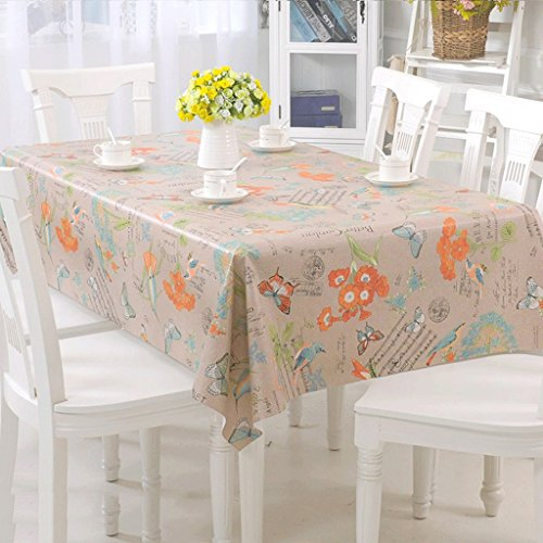 Lying Nappe composite en PVC imperméable à l'eau imperméable à l'huile Rectangle table chiffon table chiffon - Décoration de table (Couleur : C, taille : 138 * 190cm)