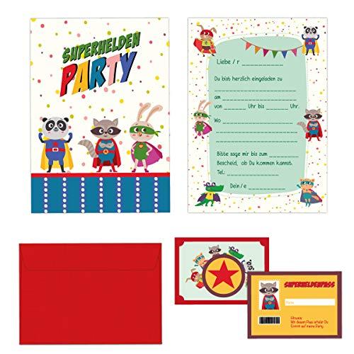 24-teiliges Einladungskarten Set Kindergeburtstag -