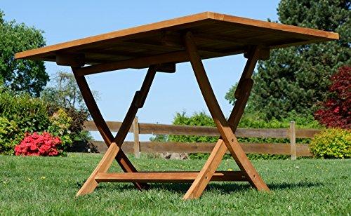 ASS ECHT Teak Holz Klapptisch Holztisch Gartentisch Tisch in verschiedenen Größen von Größe:140x80 cm - 5