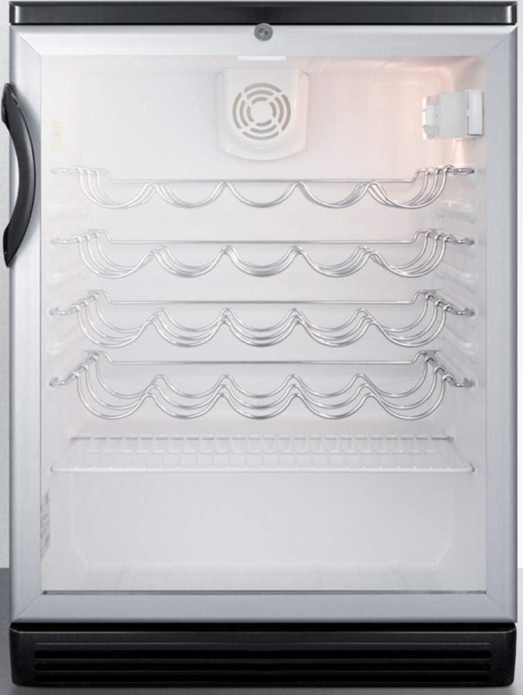 Summit SWC6GBLBI Wine Max 88% OFF Chiller Beverage Glass Black Max 62% OFF Refrigerator