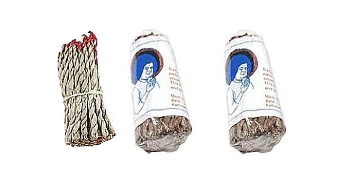 高齢者おびえた乳剤サイ?ナグ?チャンパ?ドープ ロープ型お香 ホワイト