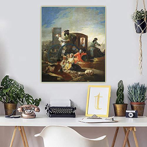 Kit de pintura por números Francisco Goya, el vendedor de vajillas,, pintura por números para adultos y niños, kit de regalo de pintura al óleo