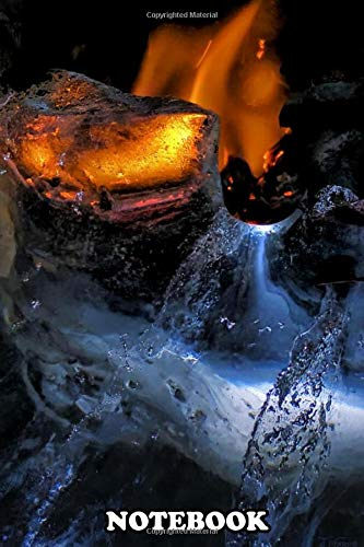 """Notebook: One Of My Experimental Photos Lighting Ice On Fire , Journal for Writing, College Ruled Size 6"""" x 9"""", 110 Pages"""