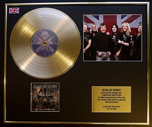 EC Iron Maiden/Goldene Schallplatte/Record & Foto-Darstellung/Limitierte Edition/COA/A Matter of Life and Death