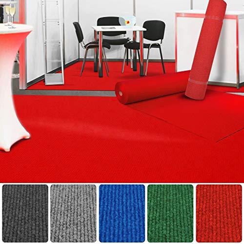 etm Premium Messeteppich Meterware   Eventteppich als Hochzeitsläufer, Premierenteppich, VIP-Teppich UVM.   viele Farben und Größen   Rot - 100x100 cm