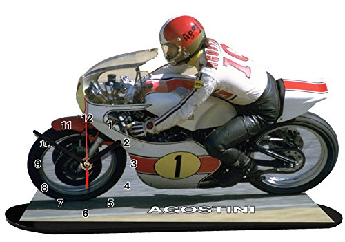 auto-horloge Giacomo AGOSTIN Moto GP, Yamaha, Miniatur Modell Motorrad in der Uhr 02