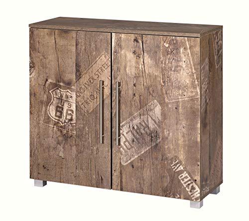 Schildmeyer Brisbane Kommode Holz, Dekor, 90 x 35 x 83 cm, panamaeiche