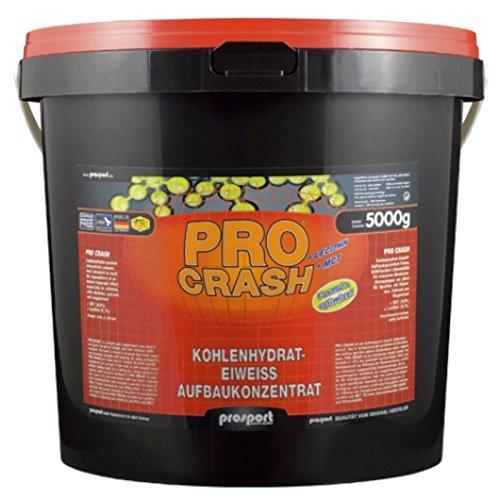 Prosport - Pro Crash, 5000g Eimer, Weight Gainer, Masseaufbau, Kohlenhydrat-Eiweiss Aufbaukonzentrat, Geschmacksrichtung: Vanille