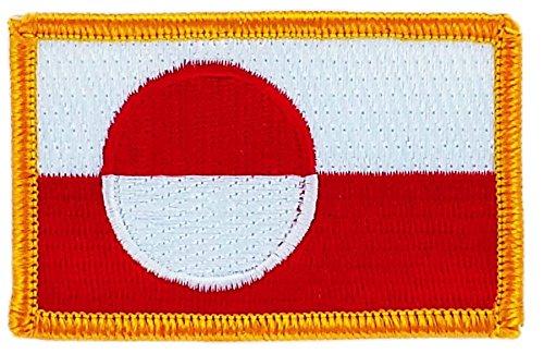 Aufnäher, bestickt, Flagge Grönland zum Aufbügeln, für Rucksack