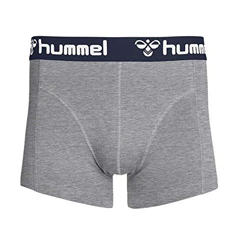 Hummel Herren Boxershorts Mars 2PACK Boxers 203433 Grey Melange/White M