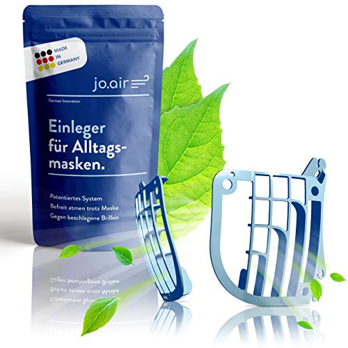 Jo.air Abstandshalter Maske [Made in Germany] - Frei Atmen dank innovativem Maskenabstandhalter - Maskenhalterung - Unsere hygienische Maskenstütze als Masken Zubehör