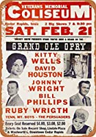 2個 8 x 12 cm メタル サイン - 1959 年、シーダー ラピッズのキティ ウェルズ メタルプレート レトロ アメリカン ブリキ 看板