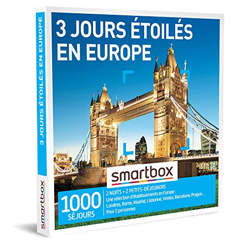 Coffret Smartbox 3 jours étoilés en Europe