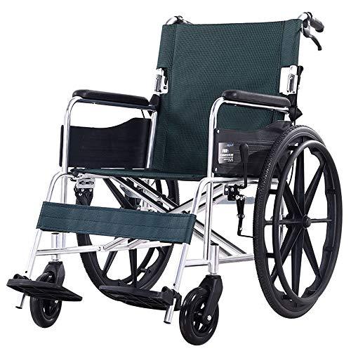 HPDOSHP Rollstuhl faltbar - Rollstühle mit Selbstantrieb - Transportrollstühle Leicht zusammenklappbarer Rollstuhl Medizinische Artikel - Manueller Rollstuhlwagen, 22 Zoll Hinterrad,Sitzbreite 45 cm