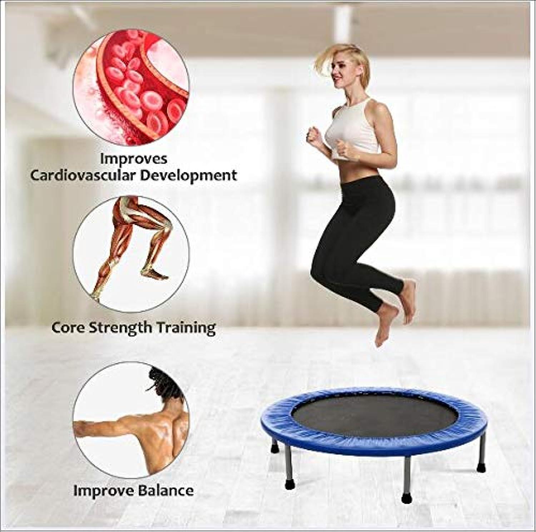 SVNA Fitness Trampolin Mini mit gepolstertem und federelastischem Sicherheits-Indoor-Sport-Fitness-Workout,101cm