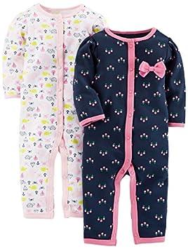 12 Months Carters Baby Girls 2 Piece Dress Set 121g465 Grey//Pink Stripes