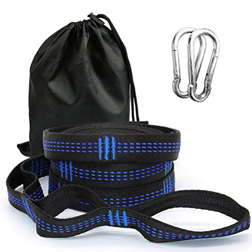 LIDIWEE Hammock Straps Extra Long Tree Swing Straps,Compact Camping Accessories Suspension System Kit with 2 Carabiners,Carrying Bag