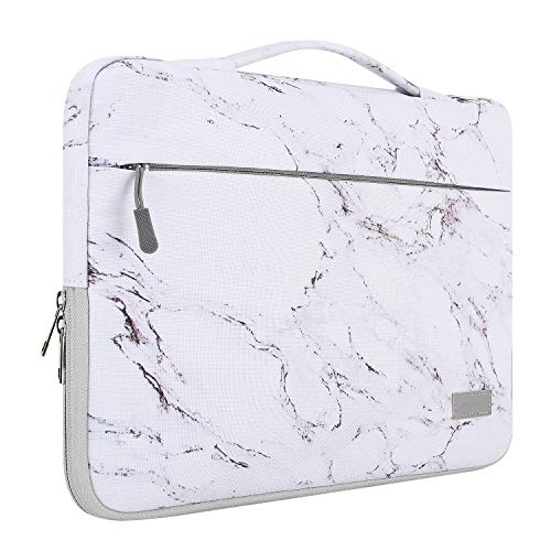MoKo 15.6 Inch Laptop Sleeve Case Fits 2019 MacBook Pro 16 inch, MacBook Pro 15.4', Surface Book 15 inch, Ultrabook Notebook Carrying bag for 15.6' Dell Lenovo HP Acer Chromebook, Marble