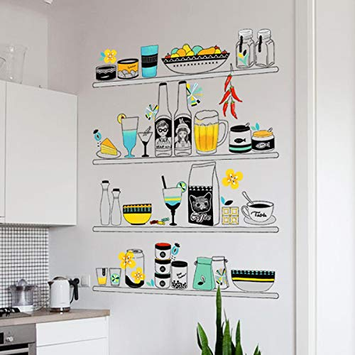 YUAHNG Pegatinas de Pared Papel Tapiz Decorativo Pegatinas de Pared Autoadhesivas Pegatinas de Azulejos Autoadhesivas de Cocina Personalidad Creativa