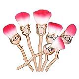 Glamza - Set di 6 pennelli a forma di rosa ispirati alla Bella e la Bestia, 1 unità