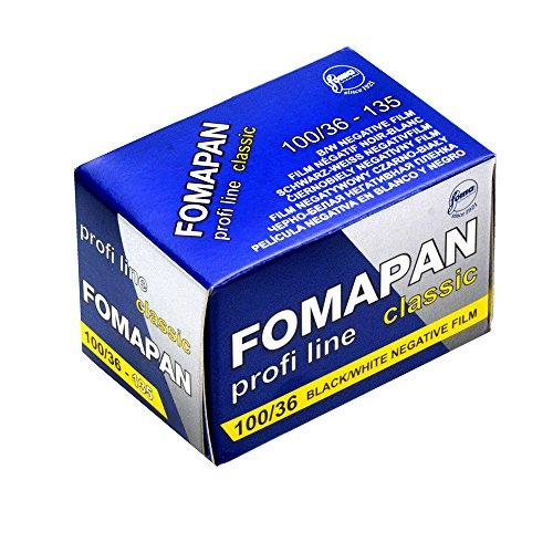 Foma Fomapan 100 ISO Negativ-Film, 35 mm, 36 Belichtung, 36 Belichtung, schwarz, 35mm x 36 Exposure