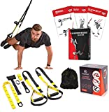 BRAYFIT Bodyweight Resistance Home Gym Equipment 10-in-1 Set - Training Kit Fitness Straps for Full Body Home Gym Workout with Integrated Door Anchors and Extension Strap