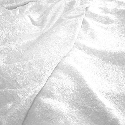 TOLKO Stoff-Ballen |10m| Pannesamt Stoffpaket - Dekostoff zum Nähen und Dekorieren (10 m x 150 cm, Schnee-Weiß)