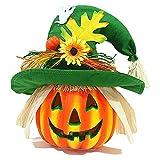 HMBB Linterna de calabaza de Halloween Decoración de la calabaza, Color Cambiando la iluminación de la iluminación decorativa de la calabaza - Decoraciones de Halloween for el hogar, Casa Haunted, Buj