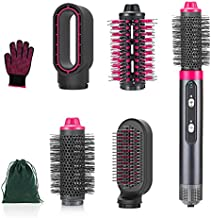 4 in 1 Hair Dryer Brush Set with Negative Ionic, Interchangeable Hot Air Brush, Detachable Brush Heads Dryer & Volumizer, Electric Hair Dryer & Curler Straightener Brush