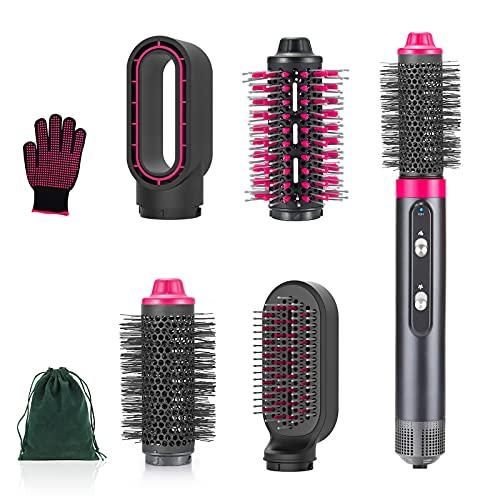 Juego de cepillos para secador de pelo 4 en 1 con iónico negativo, cepillo de aire caliente intercambiable, cabezales de cepillo...