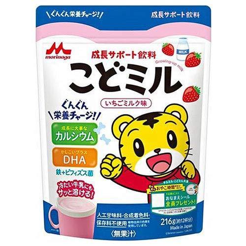 森永乳業 成長サポート飲料 こどミル いちごミルク味 216g×12袋入×(2ケース)