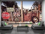 Mural de pared – Ruta 66 artefactos – Papel pintado fotográfico para decoración de pared (144 x 100 pulgadas/366 x 254 cm) Póster gigante de papel para dormitorio, sala de estar, imagen