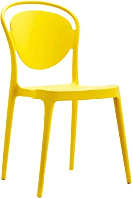 Mei Xu Chair, Plastic Backrest Chair, Modern Minimalist Plastic Dining Chair, Lounge Chair, Cafe Chair, 6 Colors Optional @ (Color : B)