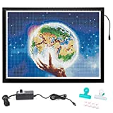 SanerDirect A2 Tracing Light Pad, New Design Large Size Ultra-Thin Diamond Painting Light Board, Stepless Adjusted Dimmable Brightness Drawing Board with Clips and Magnet (Upgrade) 25x18INCH