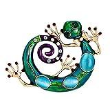 Ruikey 1 Pcs Elegante Broche Lagarto Retro de Diseño Broche Pin Sin Caja para Las Mujeres Señoras Niñas