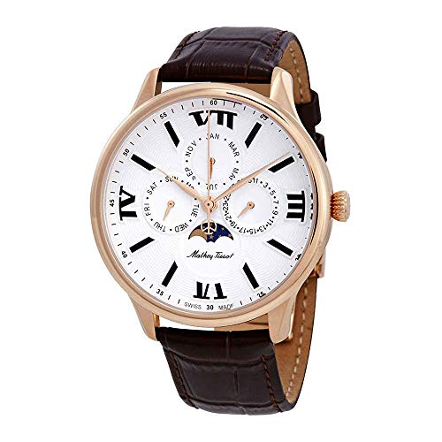 Mathey-Tissot Edmond Moon Phase White Dial Men's Watch H1886RPI