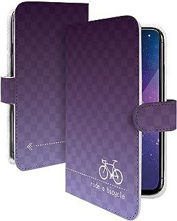 Alcatel PIXI4 ケース 手帳型 携帯ケース チェック グラデーション 黒 紫 チェック柄 おしゃれ アルカテル ピクシー 白生地 スマホケース 携帯カバー Alcatel PIXI4 シンプル カメラレンズ全面保護 カード収納付き ...