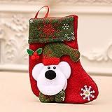 ZHTX Bolsa Candy Bag Creativo de Navidad del calcetín Adornos Stocking Saco Feliz árbol de Navidad Decoración Colgante de Año C