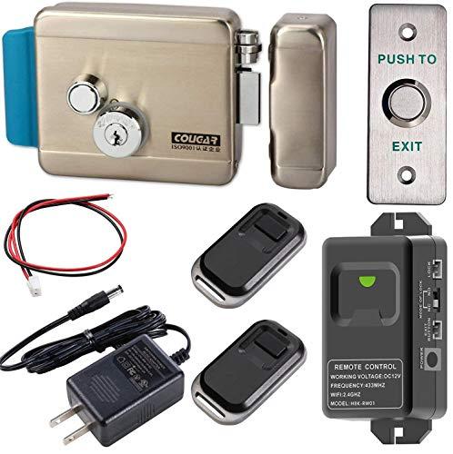 UHPPOTE Cerradura eléctrica de puerta y control remoto inalámbrico WiFi 2.4Ghz