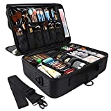 GZCZ 3 Layers Large Capacity Travel Professional Makeup Train Case Cosmetic Brush Organizer Portable Artist Storage bag...