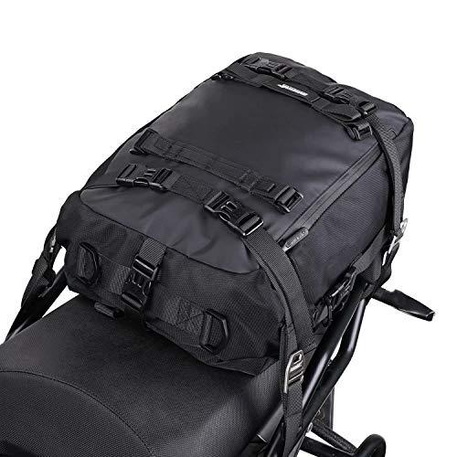 Rhinowalk Multifunktional Motorradtasche Motorradgepäck 10/20/30L Motorrad Pannier Satteltaschen Gepäckträgertaschen Hecktasche Hinterradtasche, Schwarz-20L