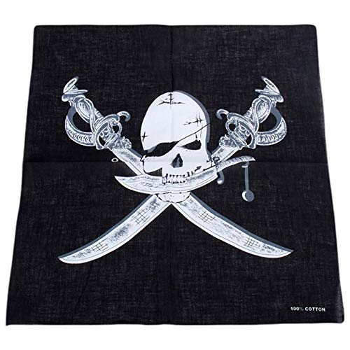 Yener hoofd sjaal schedel thema katoen bandana grafische print gotische sjaal sport hiphop polsbandje haar wrap, NO.9