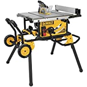 DEWALT 10-Inch Jobsite Table Saw with Rolling Stand - DWE7491RS