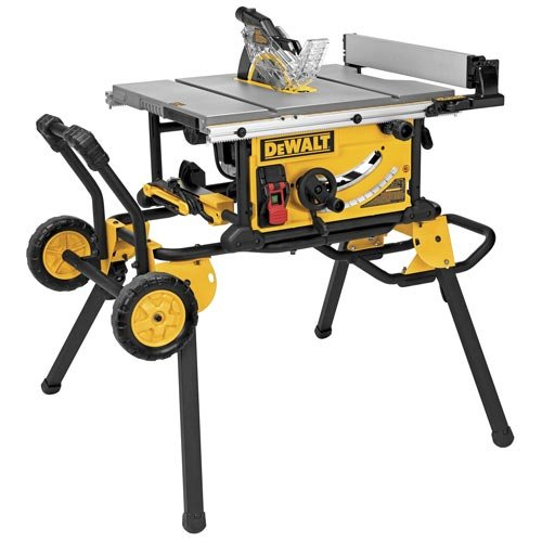 Dewalt - DWE7491RS - 10 Portable Table Saw, 15.0 Amps, Blade Tilt: Right, 5/8 Arbor Size, 4800 No Load RPM