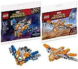 LEGO Hero Ship Avengers Guardians Brick Set Bundled with + Super Infinity Wars Ship Galaxy Polybag 30452: Milano 30449 2 Items Mini Sets