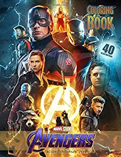 AVENGERS Endgame Coloring Book: Coloring Books for Kids and Adults (40 High Quality Illustrations)