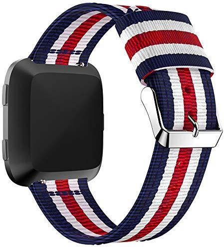 Gransho Reloj Bandas Compatible con Fitbit Versa 2 / Versa 2 SE/Versa Lite/Versa smartwatch – elección de Color, Longitud y Anchura – Correas de Nailon (Pattern 3)